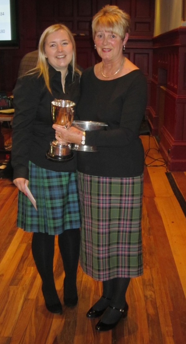 Janet Campbell, right, winner of the Mrs Kennedy Fraser competition, and Alison Campbell, left, runner-up