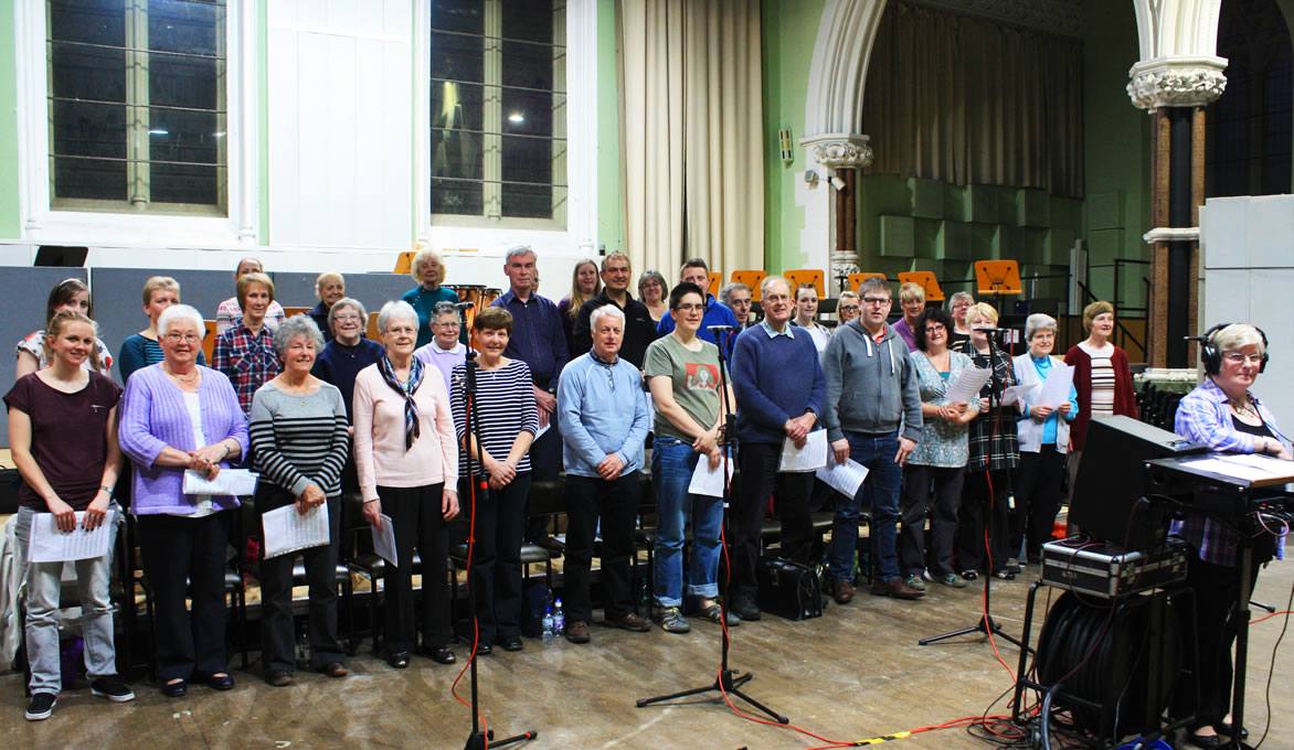 Choir at a recording during 2014